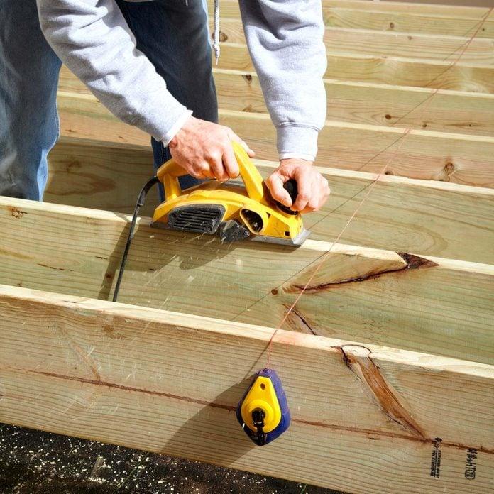 composite decking deck joist spacing