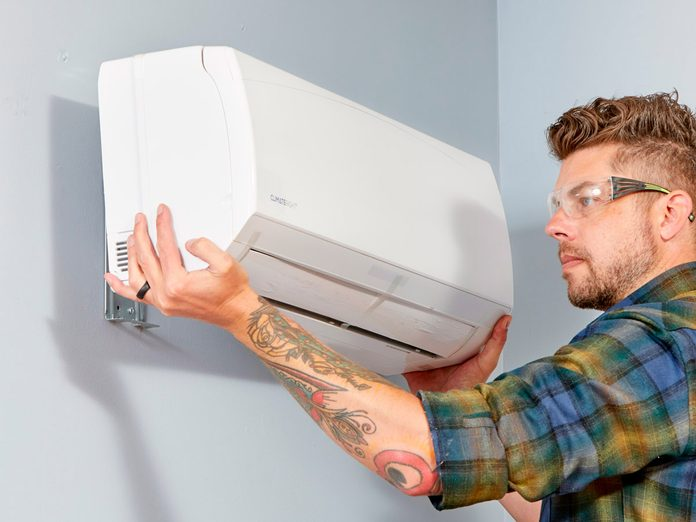 installing mini-split heating and cooling system in garage