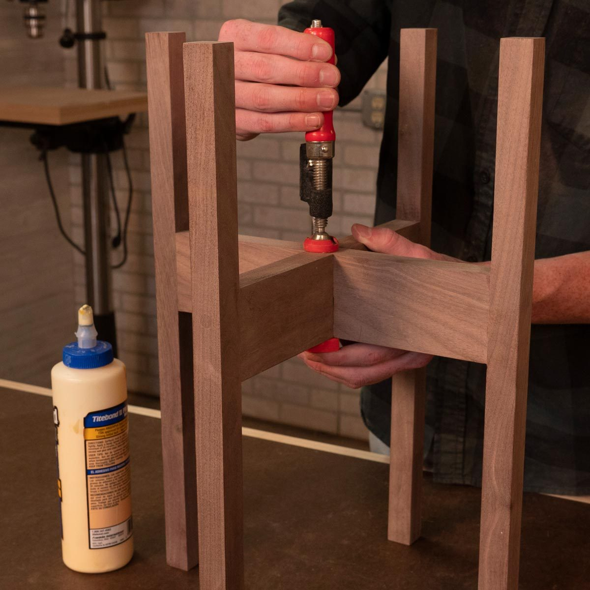 modern plant stand assemble the stand