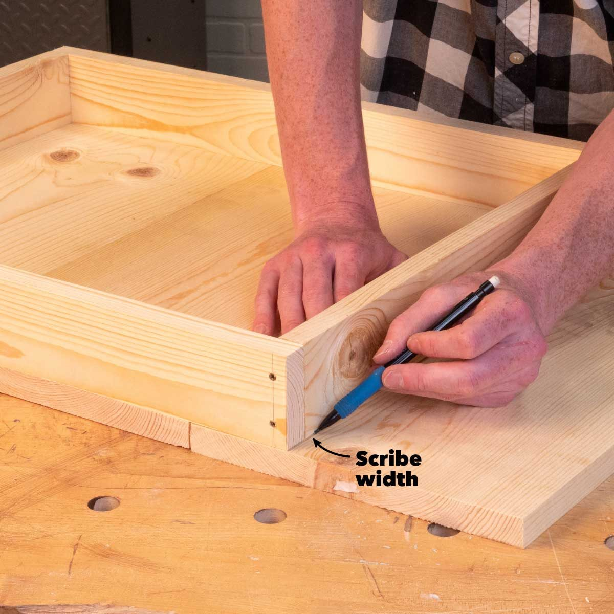 bee hive outer cover scribe width