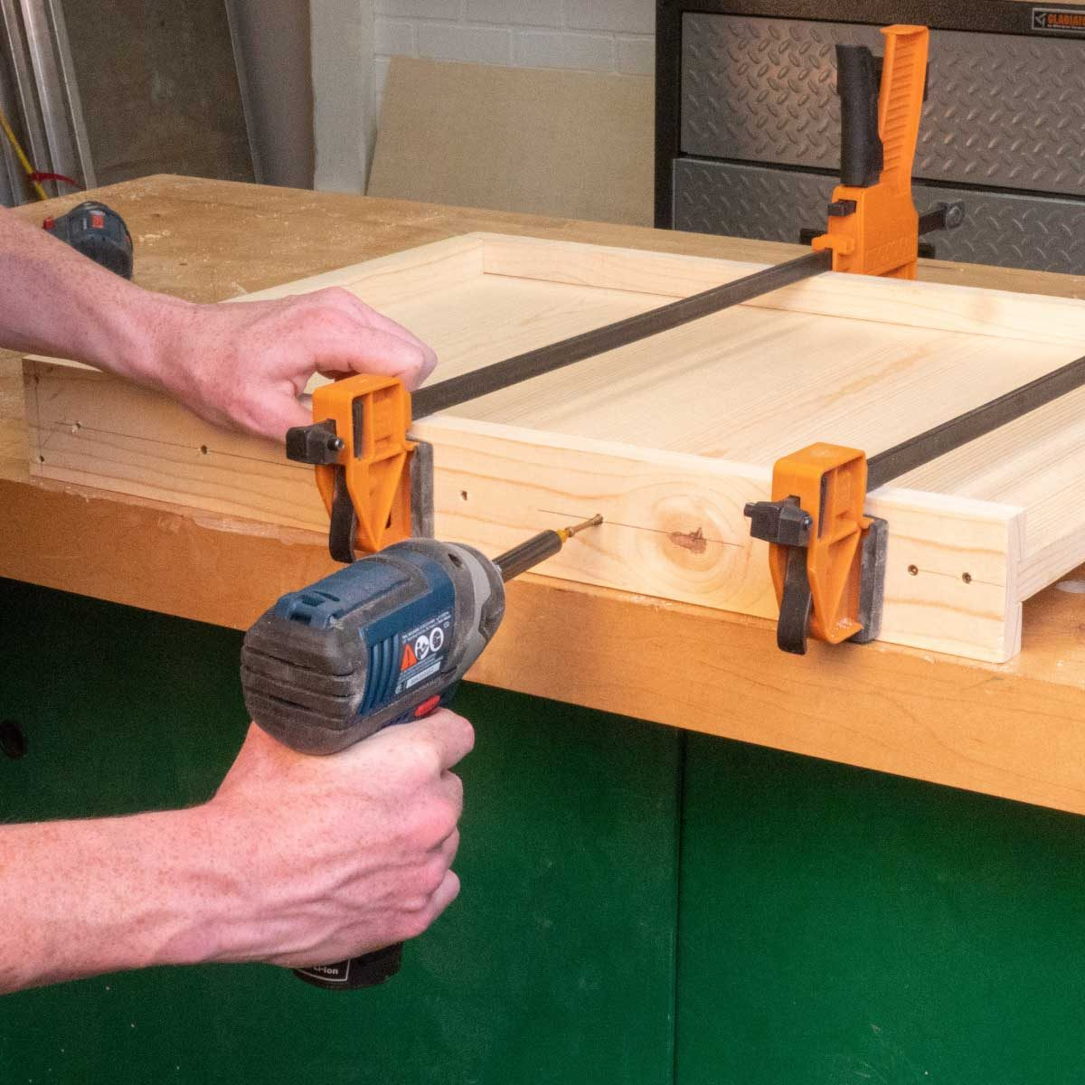 bee hive bottom board fasten together