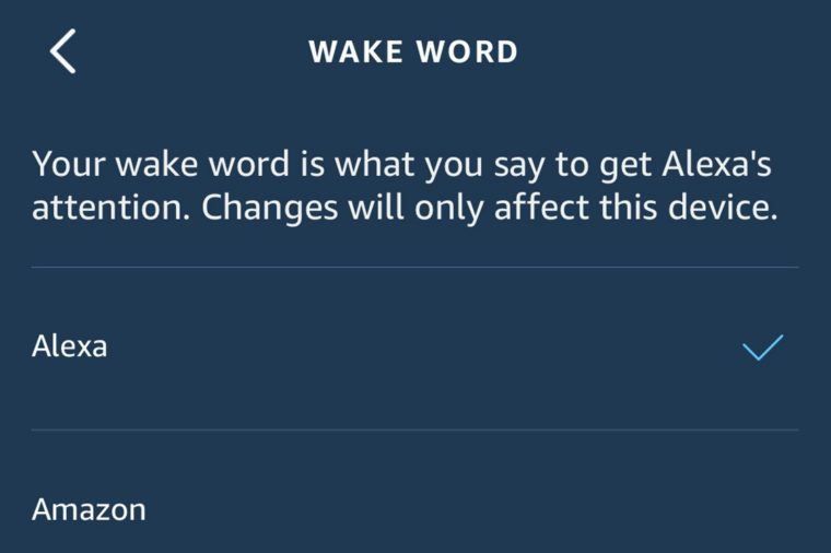 changing amazon alexa name