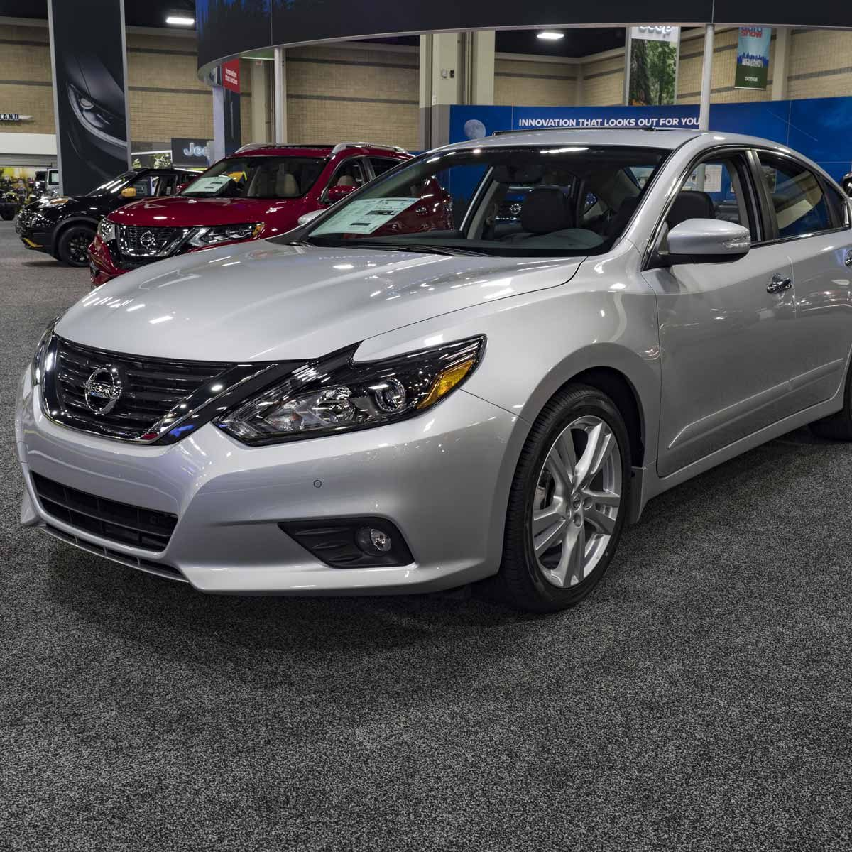 Nissan Altima on display during the 2016 Charlotte International Auto Show at the Charlotte Convention Center in downtown Charlotte.