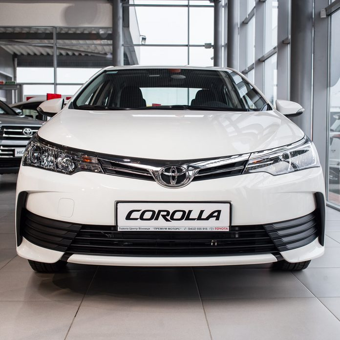 2018. Toyota Corolla concept car - front view