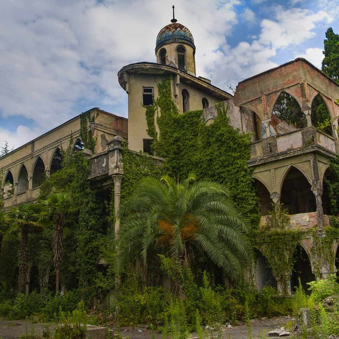Abandoned-and-overgrown-mansion-in-oriental-style-in-Sukhum-Abkhazia
