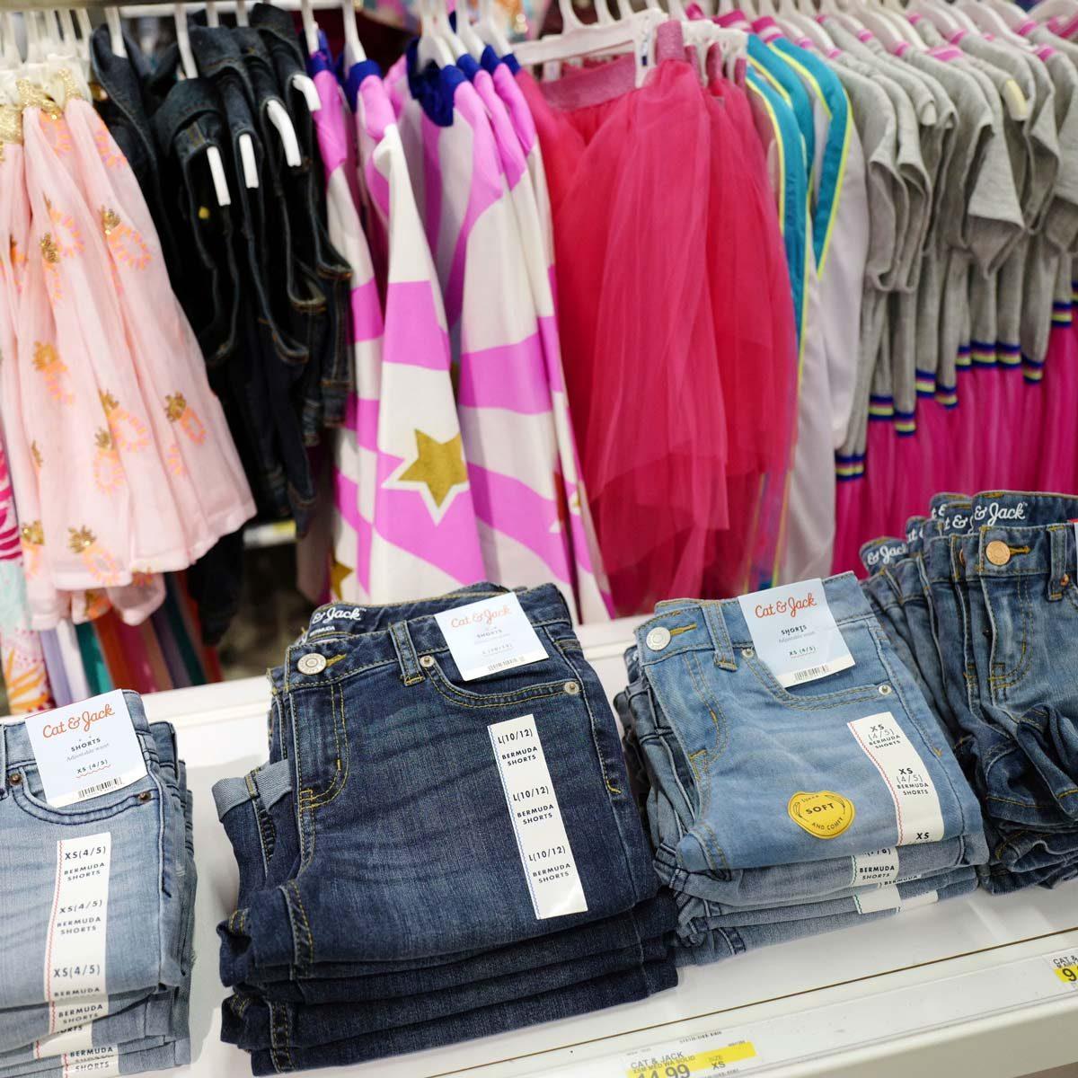 Clothing-display-at-a-Target-store