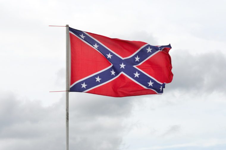 Confederate flag flying