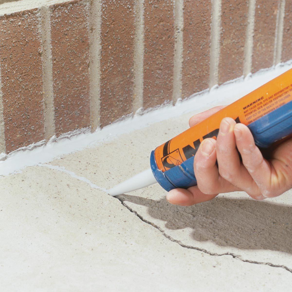 caulk cracked concrete