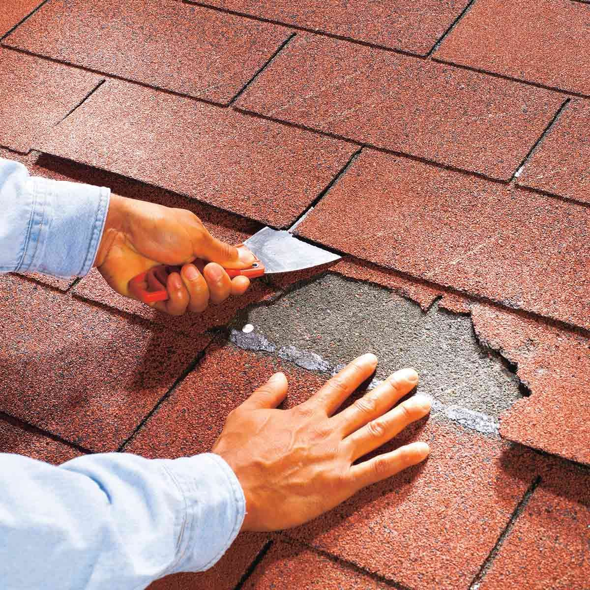 how to replace a damaged shingle