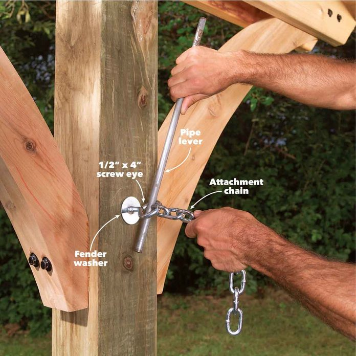 hammock awning add attachment chain