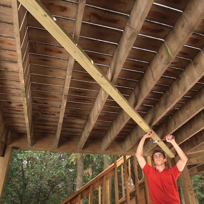 fix sway in deck
