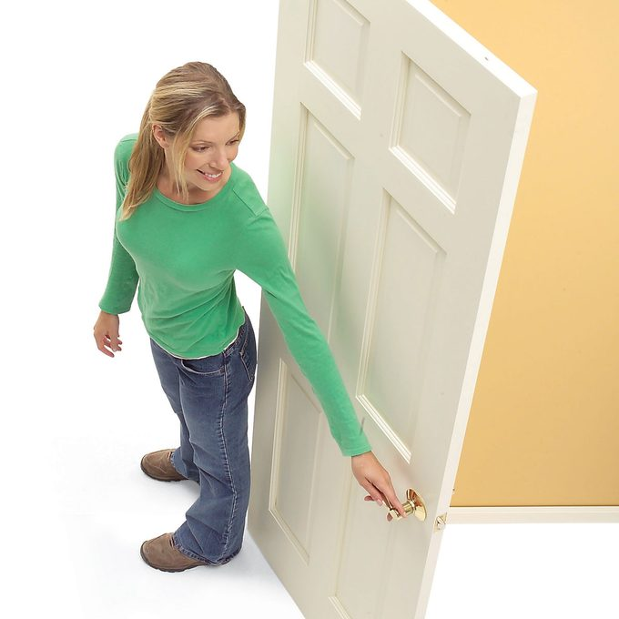 left hand swinging door