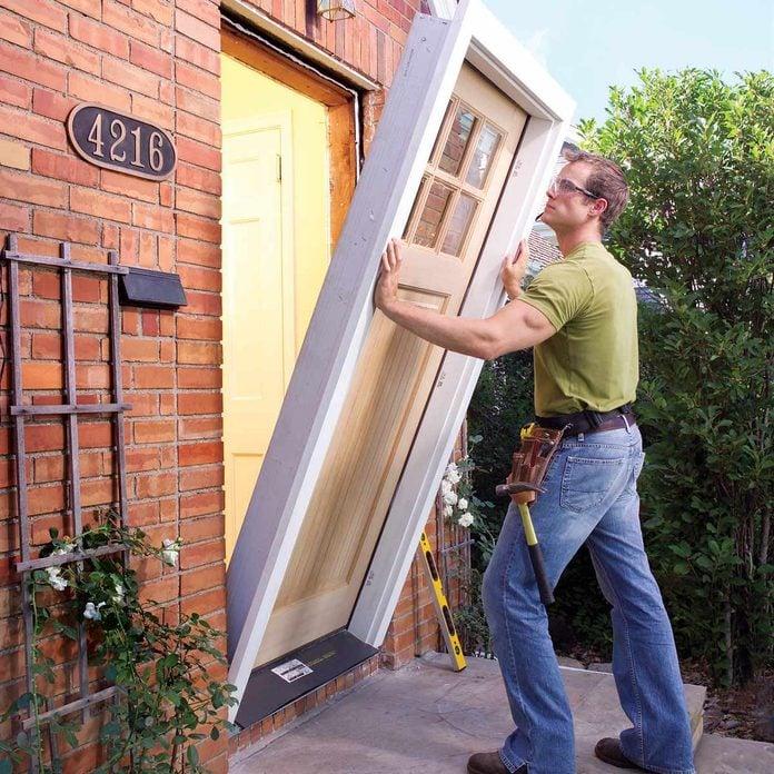 replace exterior door