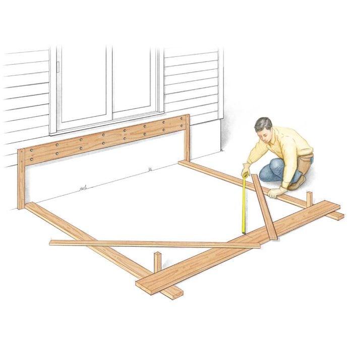 deck building tips frame