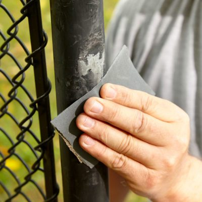 touch up a vinyl-clad fence