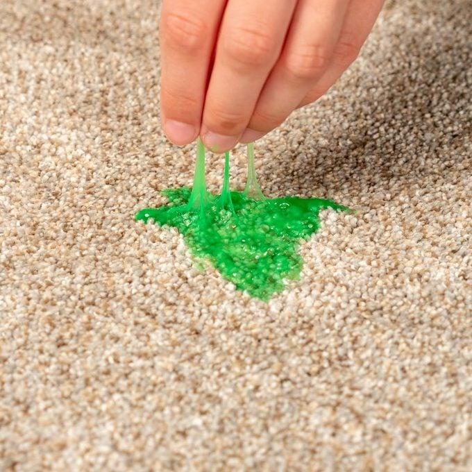 Slime in carpet