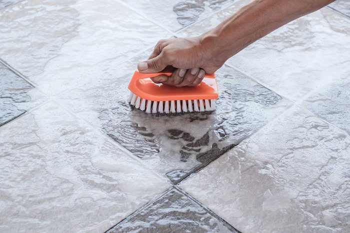 Cleaning Tile Floor