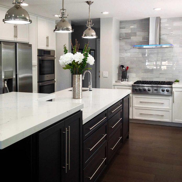 White custom cabinets kitchen