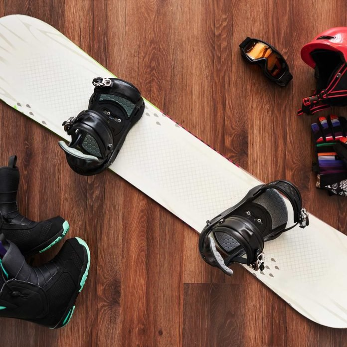 Snowboard and gear