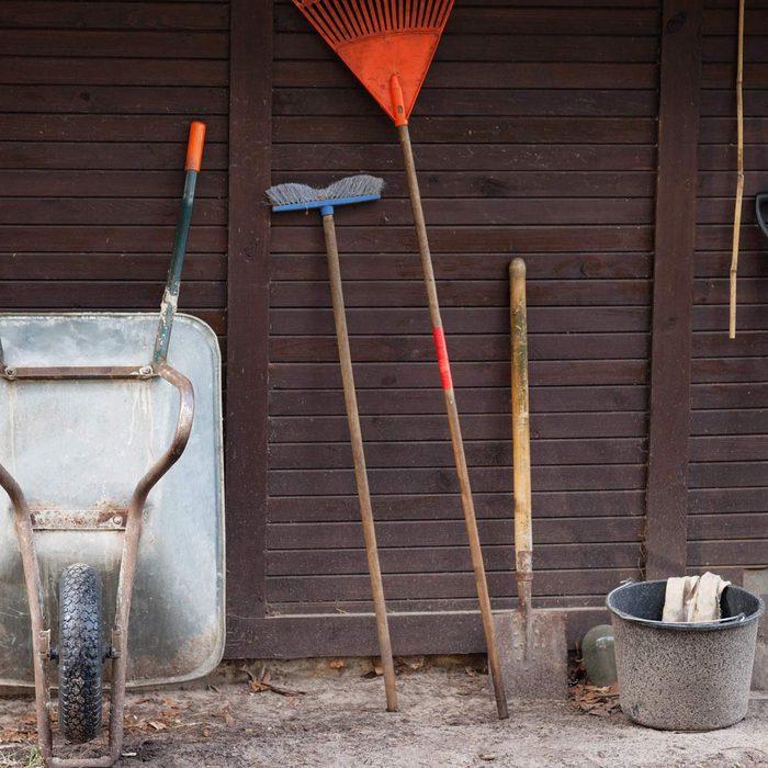 Garden tools wheel barrow
