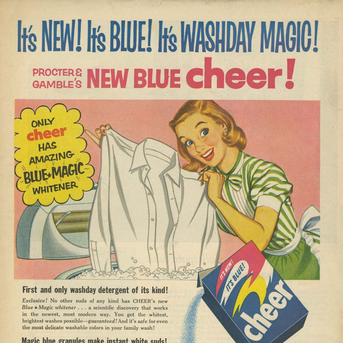 Vintage Cheer Laundry Detergent Ad
