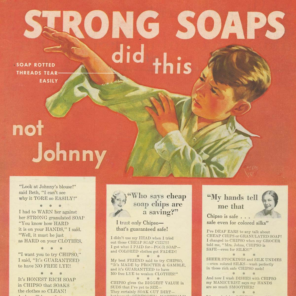Vintage laundry soap ad