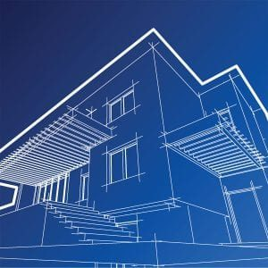housing design graphic blue print