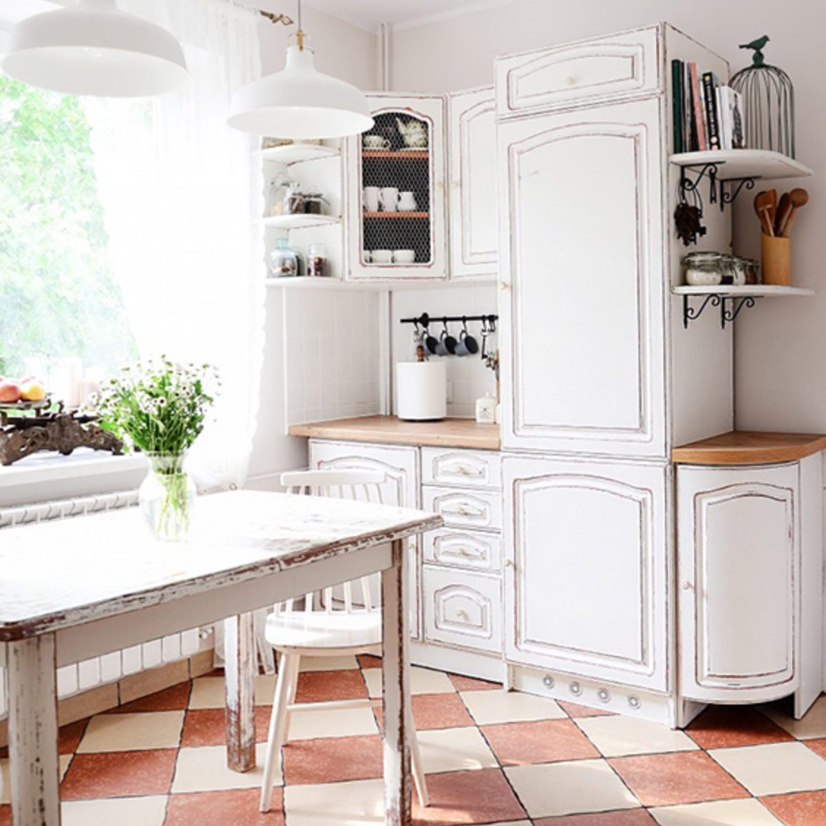 How To Chalk Paint Cabinets Family