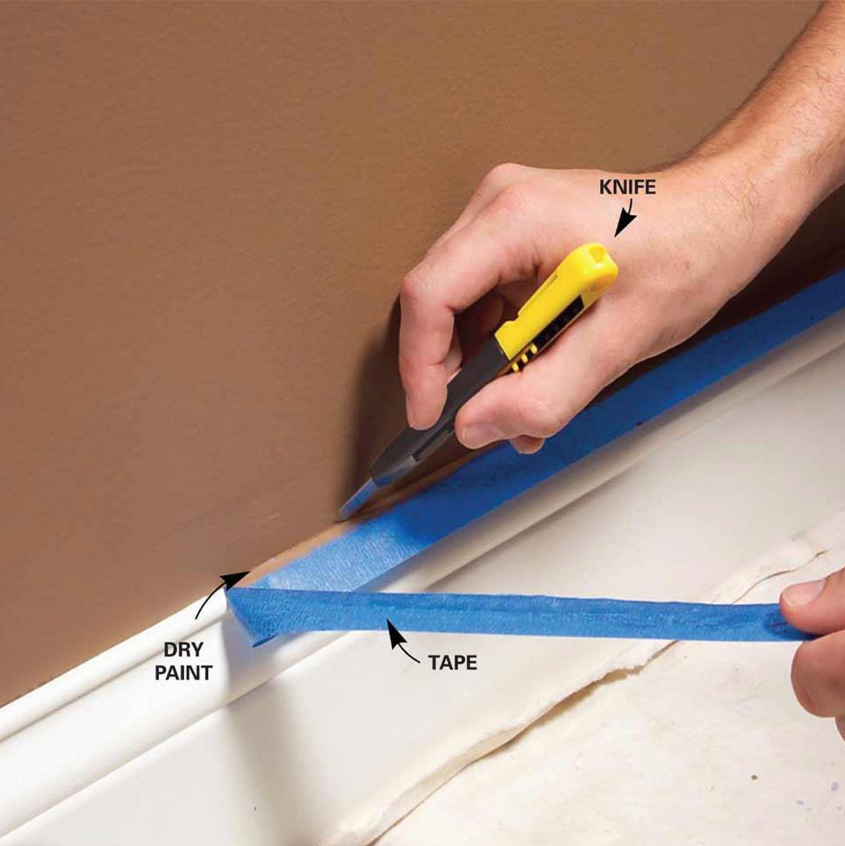 Trim Paint Tips For Smooth Perfect Results The Family Handyman