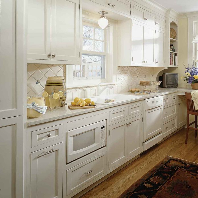small kitchen ideas build in your microwave