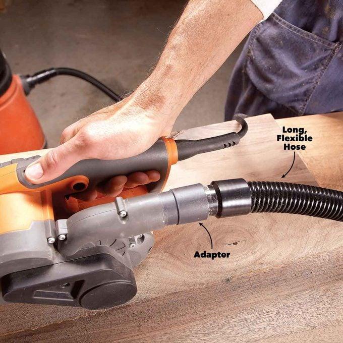 belt sander better dust collection
