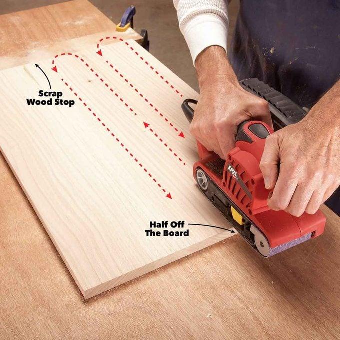 belt sander use good technique
