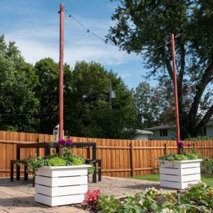 How to Build a Planter with String Light Pole