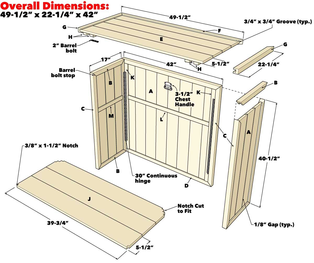 folding outdoor bar project plan