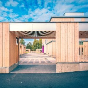 a school built with cross laminated timber