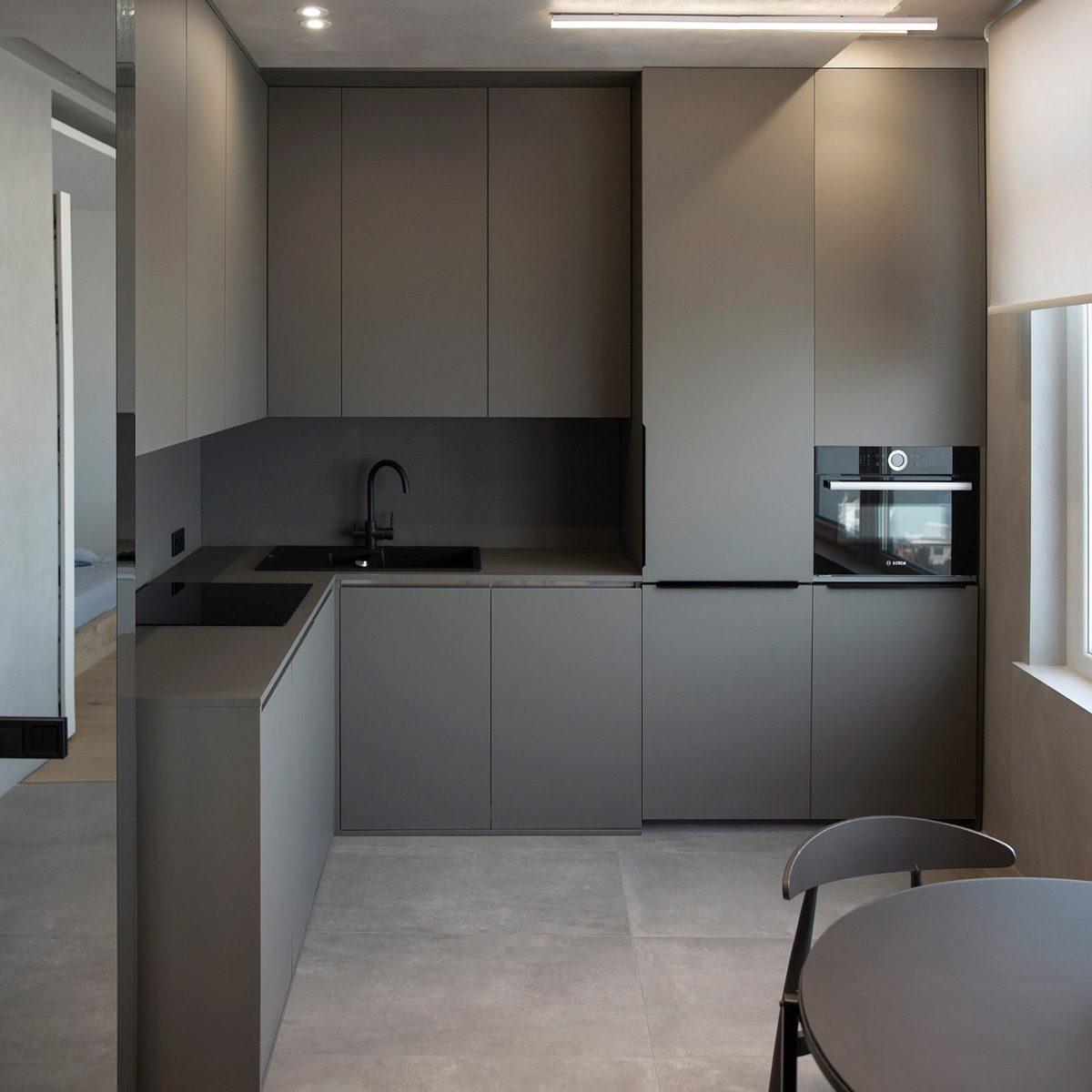 Fenix modern kitchen