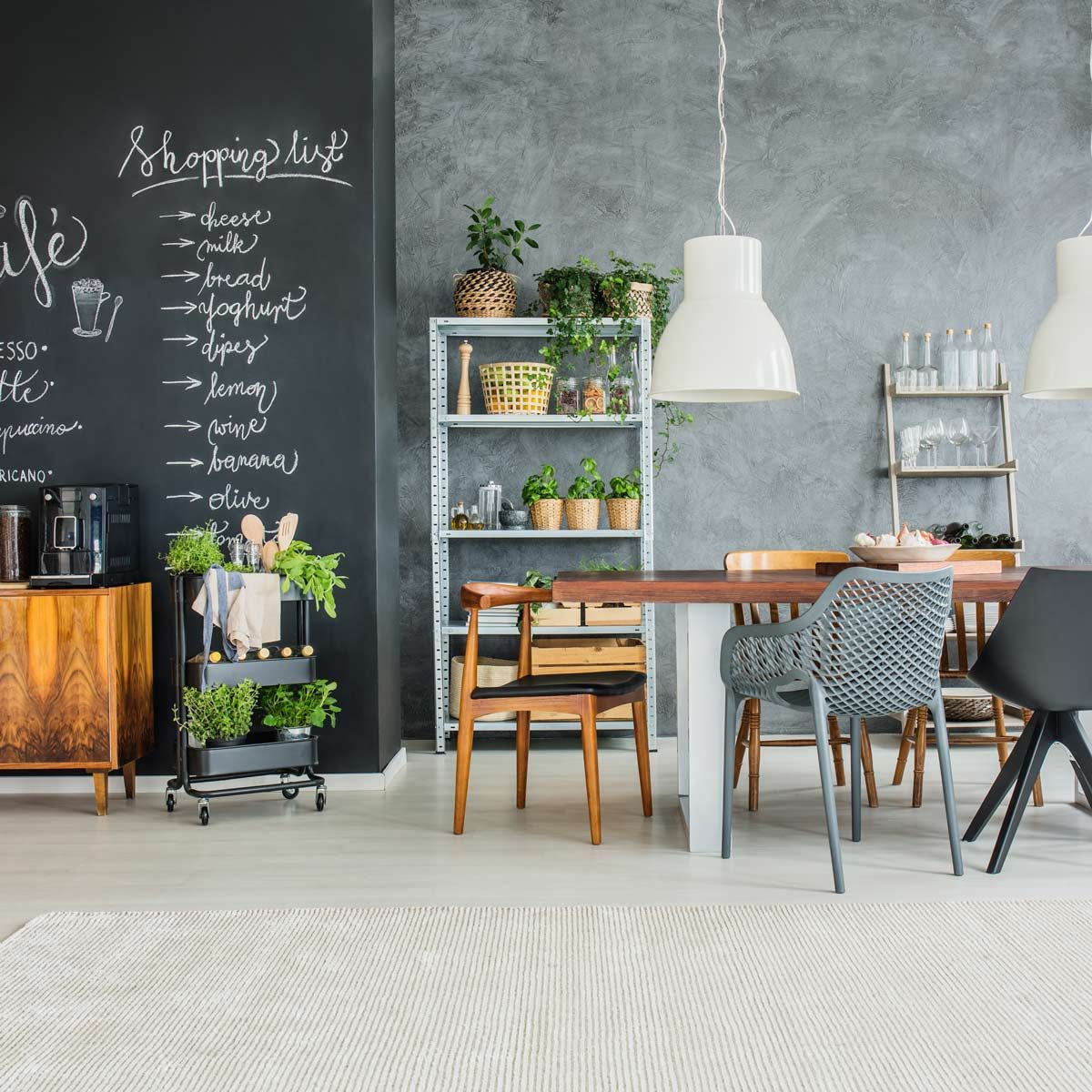 Small dining room chalkboard paint