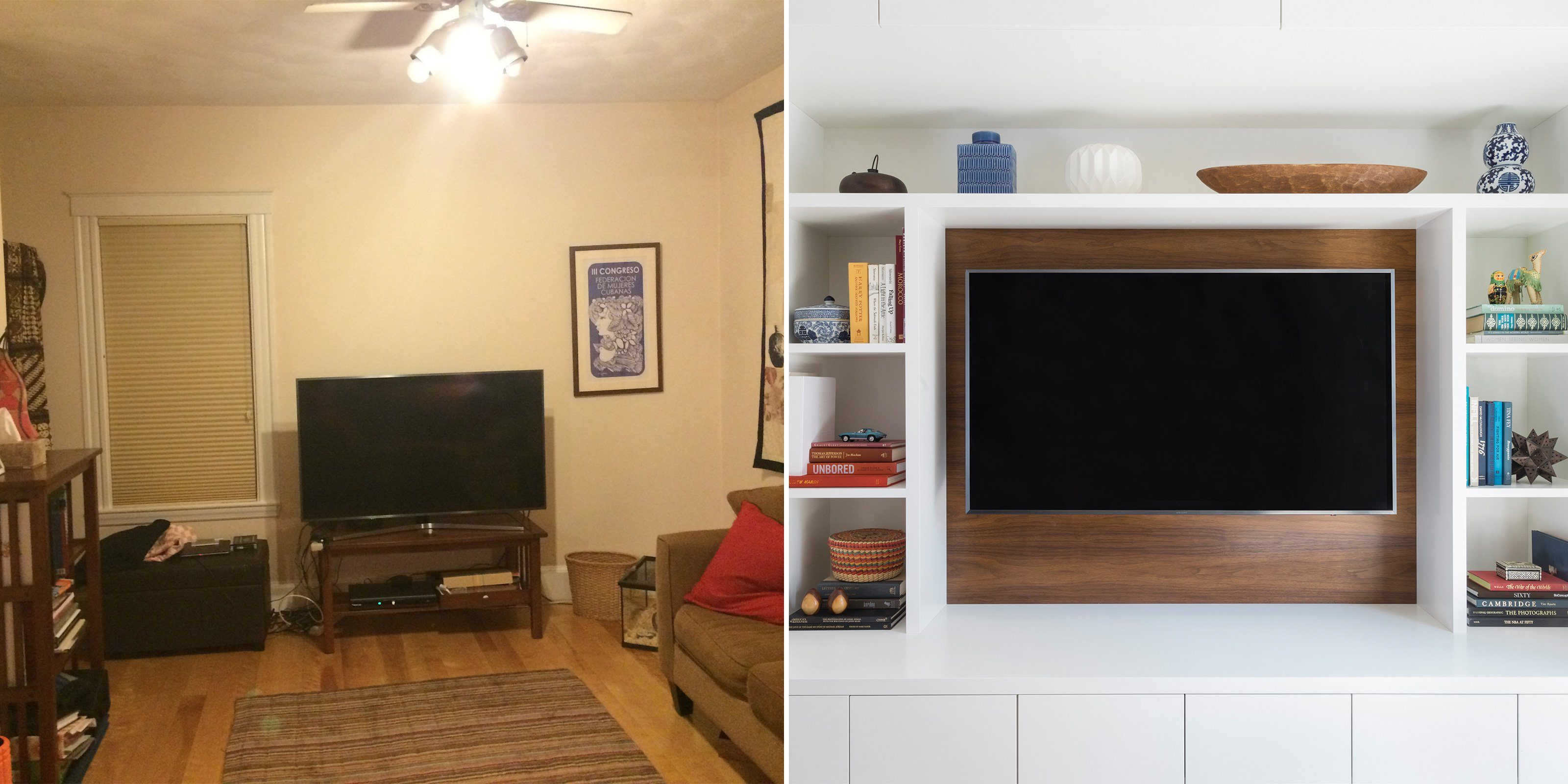 built in home organization makeover