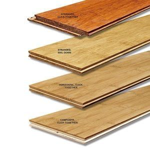 different kinds of bamboo flooring
