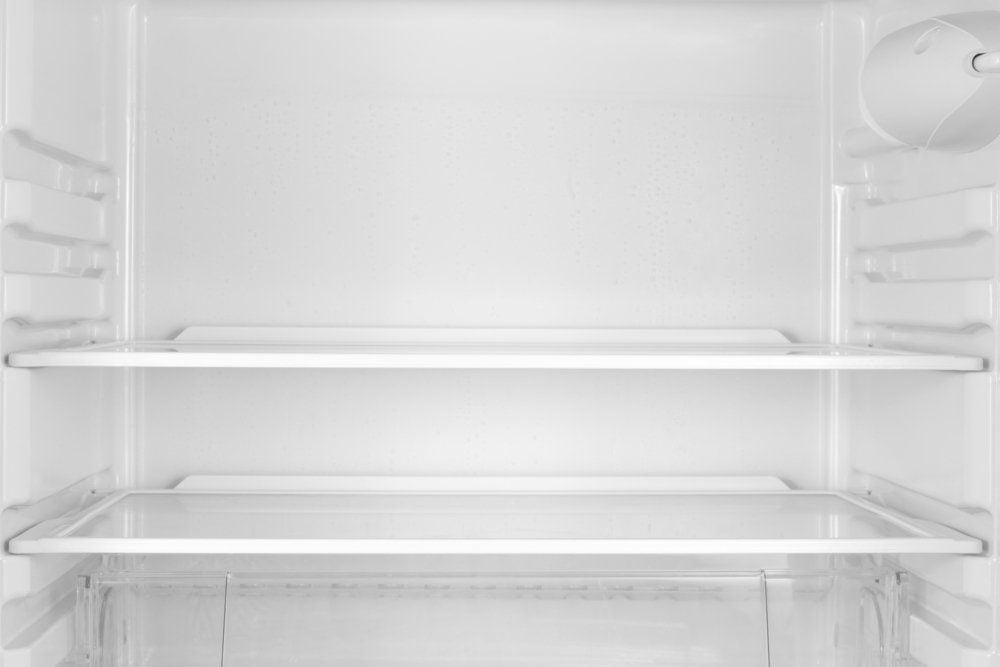 The empty fridge as backdrop