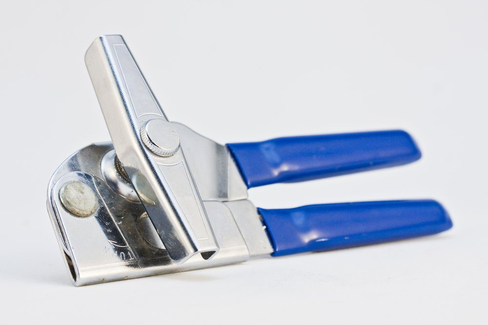 can opener on white background
