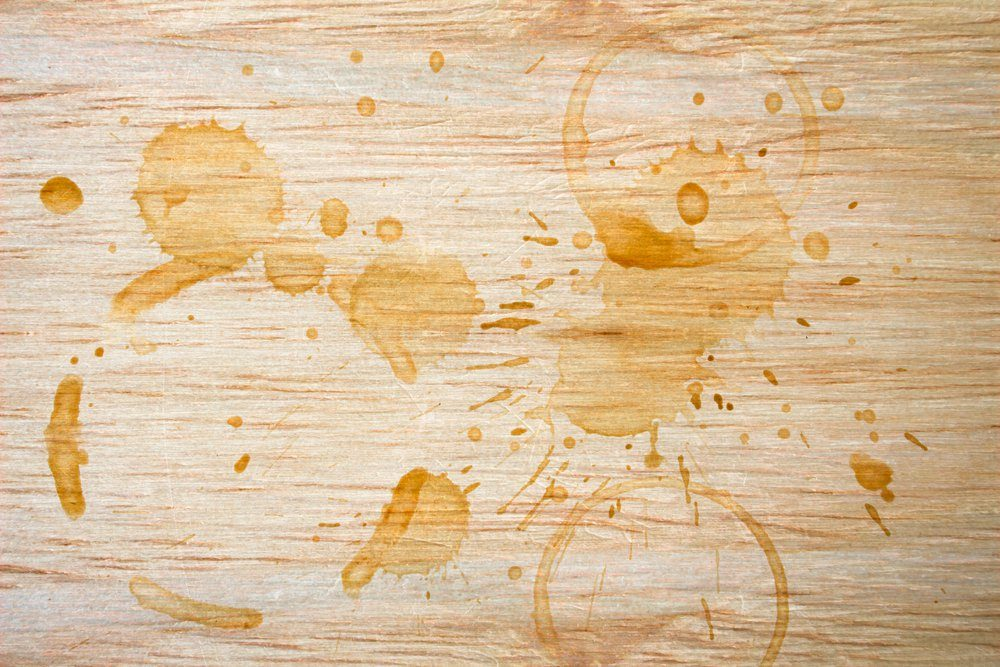 Spot from a cup of coffee on wood table / Coffee Stains Set / coffee paint stains