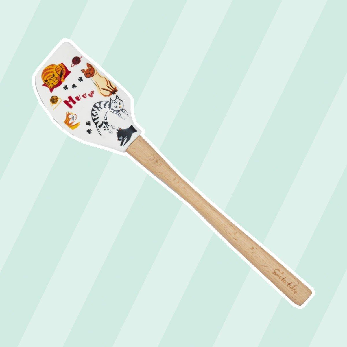 Silicone cat spatula