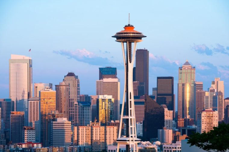 Skyline of downtown Seattle at Washington State