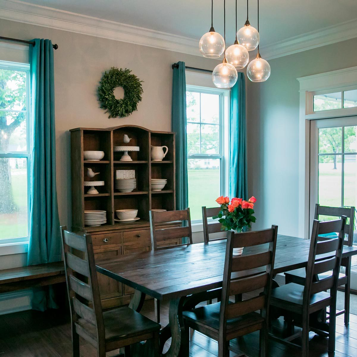 Stylish Dining Room Curtain Ideas | Family Handyman on Dining Room Curtain Ideas  id=85396
