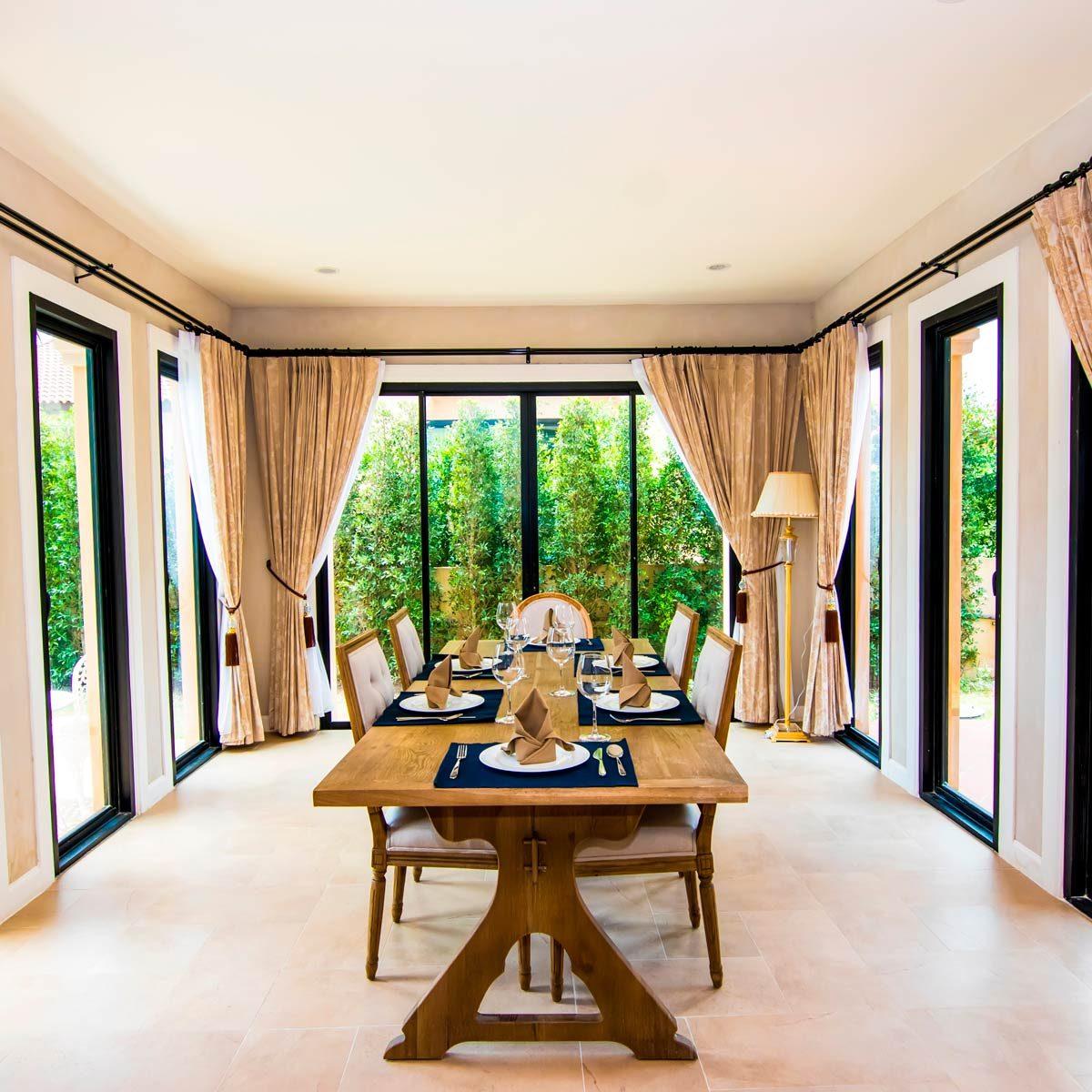 Stylish Dining Room Curtain Ideas | Family Handyman on Dining Room Curtain Ideas  id=34213