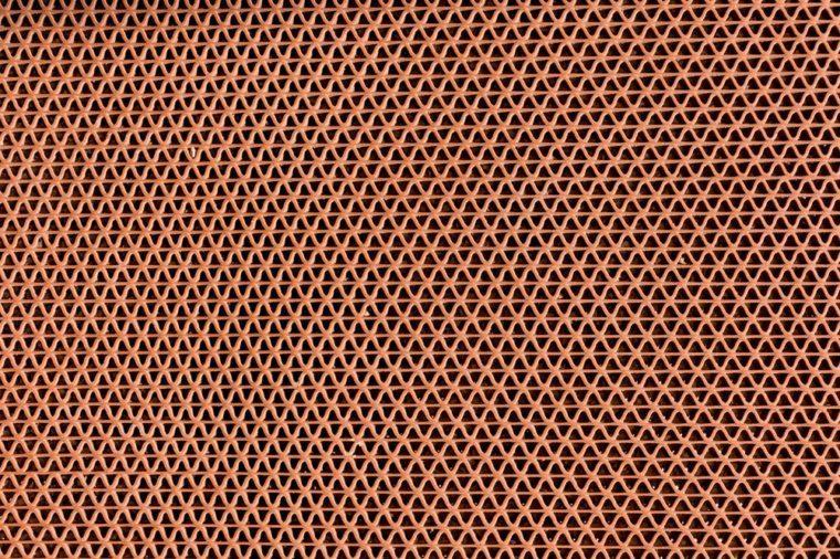 Anti slip rubber mat on granite floor.