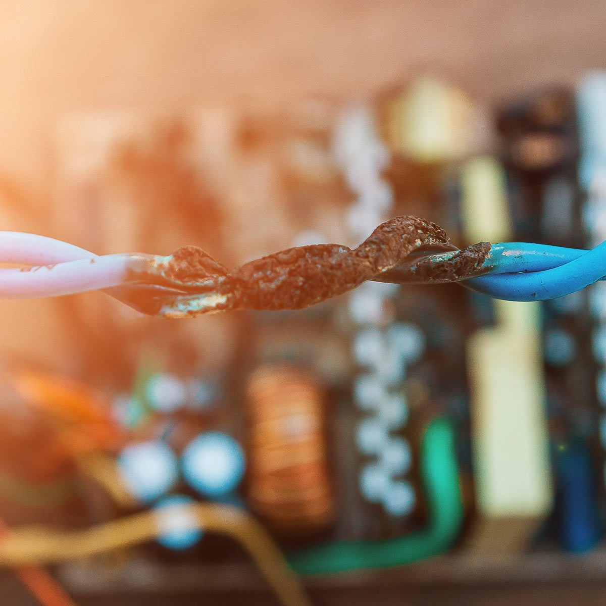 faulty burned wire