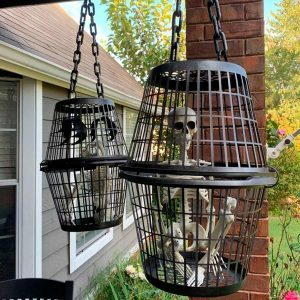 This Woman Turned Laundry Baskets into Spooky Halloween Decorations