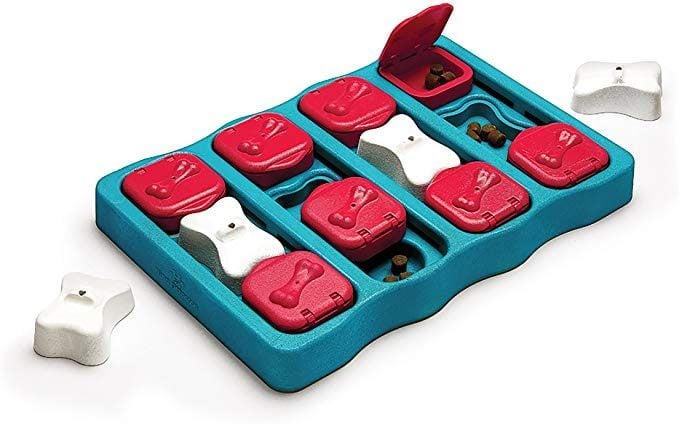 puzzle brick dog toy